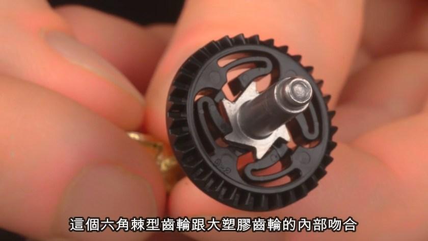 六角棘型齒輪和大塑膠齒輪內部吻合