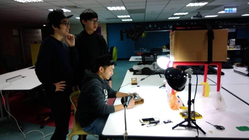 冠賢拍攝Maker GoGO影片過程