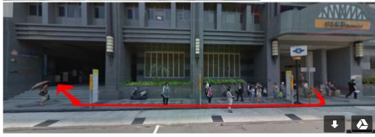 從台北橋捷運站走到創力坊的路線圖.png