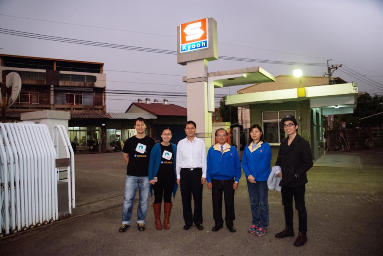 酷鳩團隊與協櫻總經理和兩位副理合照